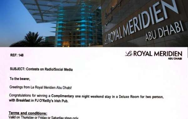 A chance to win 01 night weekend stay Le Royal Meridien Abu Dhabi with Breakfast