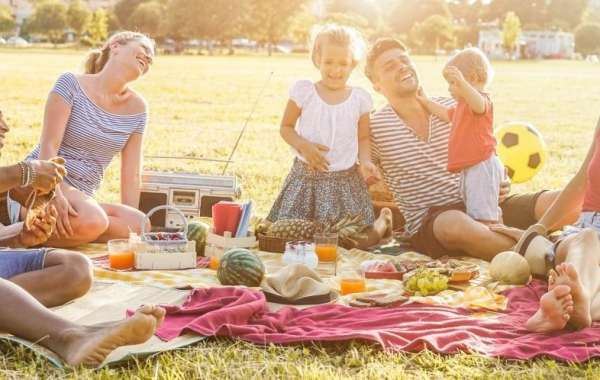 Outdoor Family Barbeque at The Lawns of Address Montgomerie