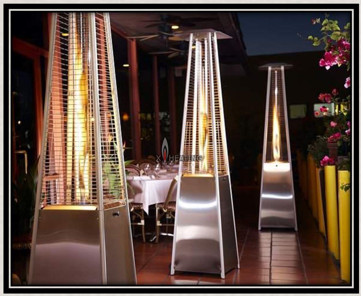 PH08 2.2&1.8M-Pyramid Patio Heater - xheating Dubai