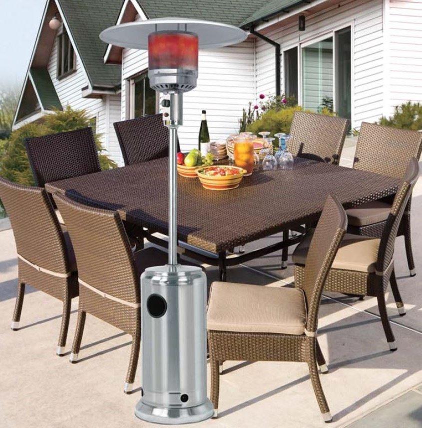 mushroom stainless steel patio heater