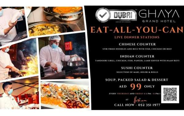 Eat-all-you-can Special Dinner Offer at Ghaya Grand Hotel