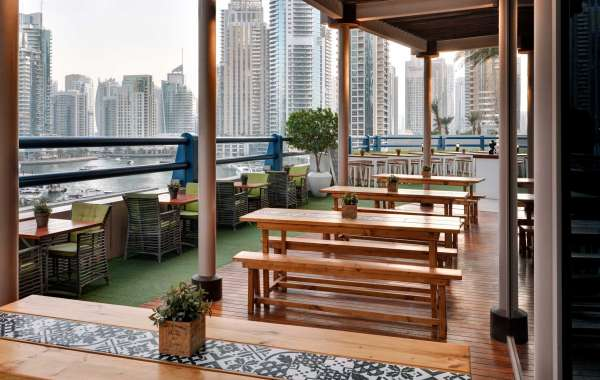 Our Beautiful Outdoor Dining Venues at Dubai Marriott Harbour Hotel & Suites