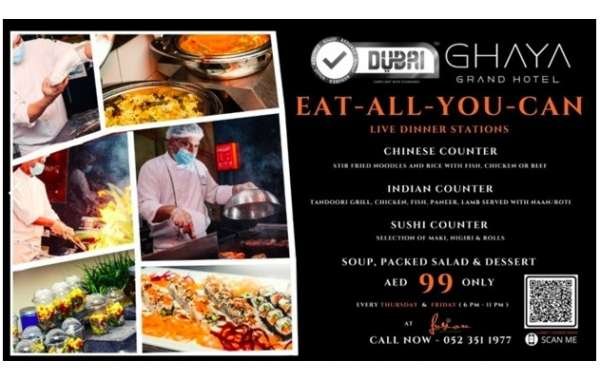 Taste of the World Eat-All-You-Can Dinner for Only AED99 at Ghaya Grand Hotel